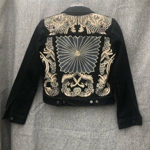 H&M Special Collection Embroidered Denim Jacket